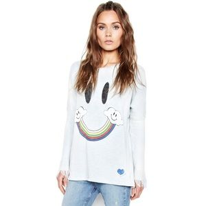 HTF: new Lauren Moshi ☻ Happy Sky Fringe Sweater ☻